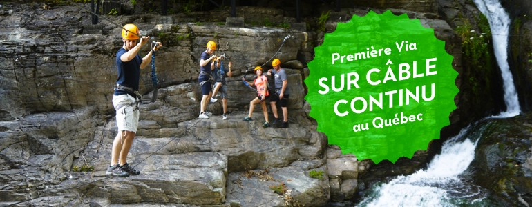 Projet vertical, Via Ferrata at the Canyon Ste-Anne